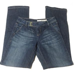 DKNY Boot Cut Trouser Jeans - Blue - Size 2